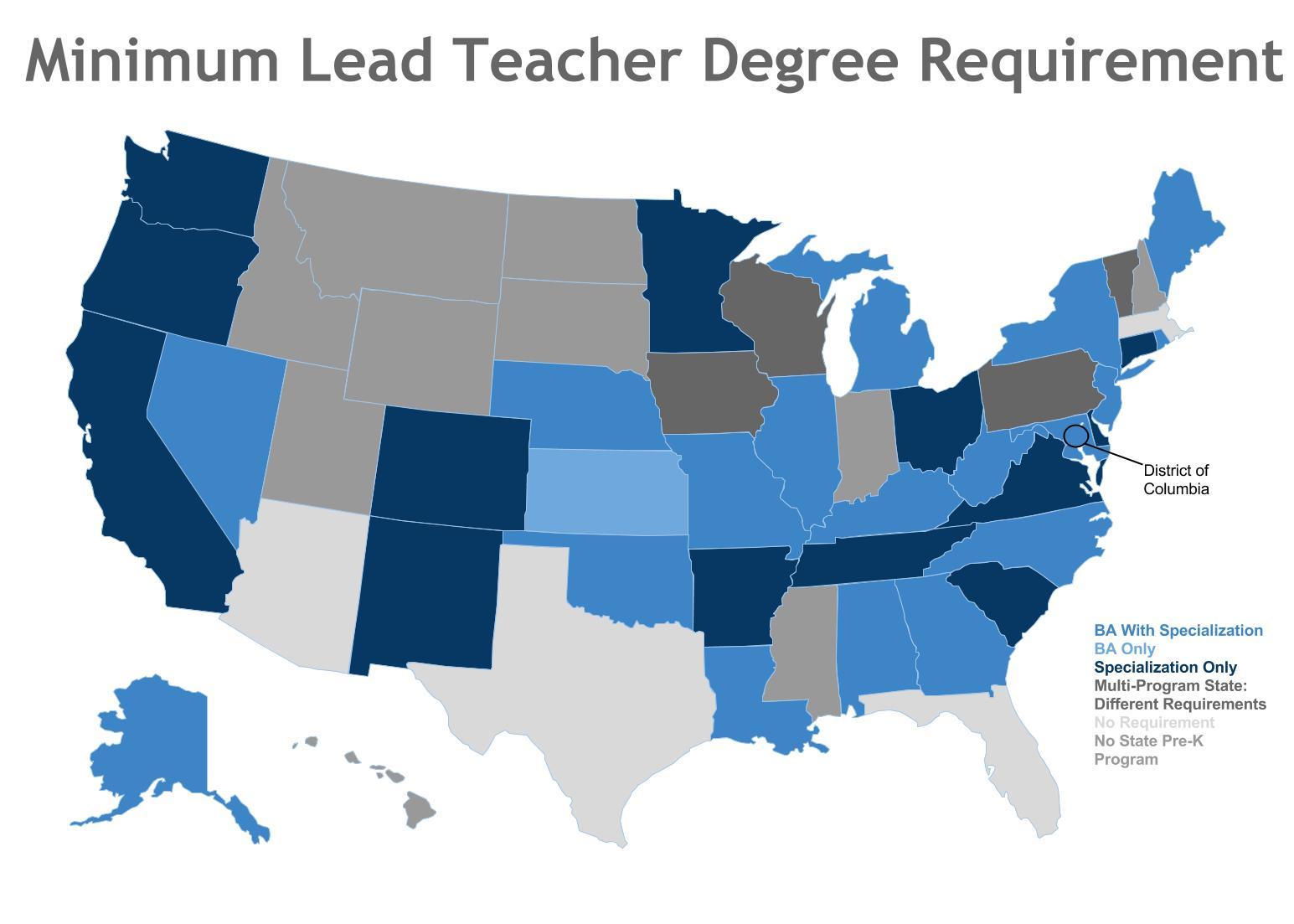 Minimum Lead Teacher Degree Requirement
