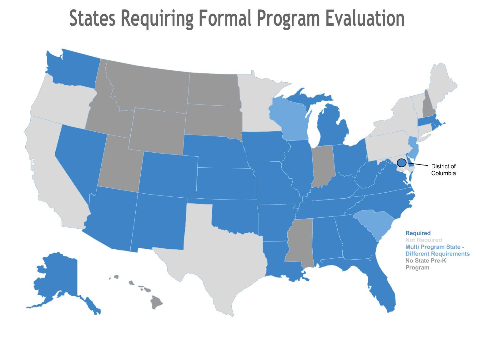 States Requiring Formal Program Evaluation